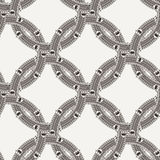 Vector seamless pattern of ornate interlocking Stock Photo