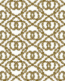 Vector seamless pattern of outlined chains Stock Images