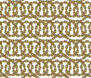 Vector seamless pattern of outlined chains Royalty Free Stock Photos