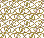 Vector seamless pattern of outlined chains Stock Photos