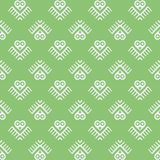 Vector seamless pattern with owl, birds Royalty Free Stock Photos