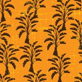 Vector seamless pattern of palm trees Royalty Free Stock Images