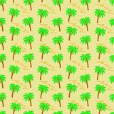 Vector seamless pattern with palm trees stock illustration