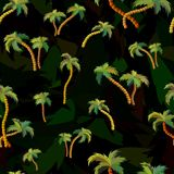Vector seamless pattern with palm trees. stock illustration