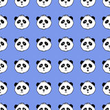 Vector seamless pattern with pandas Royalty Free Stock Image