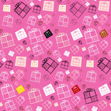 Vector Seamless Pattern - Paper Present Boxes Royalty Free Stock Images