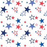 Vector seamless pattern with patriotic stars. National colors of the United States. American flag,stars and stripes. Use. For celebration of independence day Stock Image