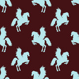 Vector seamless pattern with Pegasus. Stock Photography