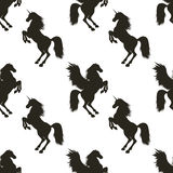 Vector seamless pattern with Pegasus and Unicorn. Royalty Free Stock Images