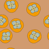 Vector seamless pattern with persimmon Stock Images