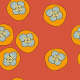 Vector seamless pattern with persimmon Royalty Free Stock Images