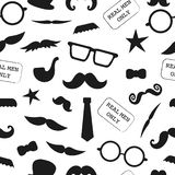 Vector seamless pattern of photo booth props royalty free illustration