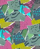 Vector seamless pattern. Pieces of torn paper stock images