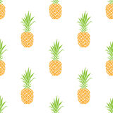 Vector seamless pattern with pineapple. Summer background. Stock Photo