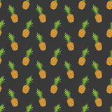 Vector seamless pattern with pineapple. Summer background. Fabric pattern Royalty Free Stock Photography