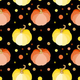 Vector seamless pattern with pink and blue pumpkins Stock Photography