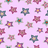 Vector seamless pattern pink flower texture Royalty Free Stock Photos