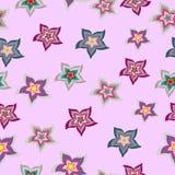 Vector seamless pattern pink flower texture. Vector seamless pattern pink flower Royalty Free Stock Photos