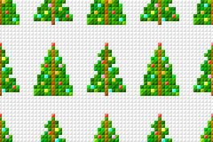 Vector seamless pattern of pixel art Christmas tree on pixel background. Vector seamless pattern of pixel art Christmas tree on pixel gray background vector illustration