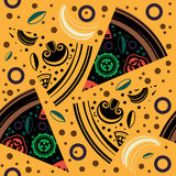 Vector seamless pattern pizza slices Stock Image
