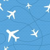 Vector seamless pattern with plane icons royalty free illustration