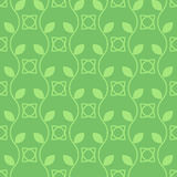 Vector seamless pattern of plants with leaves. Royalty Free Stock Images