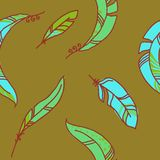 Vector Seamless Pattern of Plumage Stock Photography
