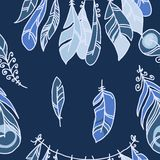 Vector Seamless Pattern of Plumage Royalty Free Stock Image