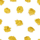 Vector seamless pattern with polka dots gold . Gold dots, sparkles, shining dots royalty free illustration