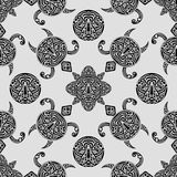 Vector seamless pattern with polynesian symbols Royalty Free Stock Photo