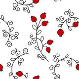 Vector seamless pattern with pomegranates. Floral pattern for cushion, pillow, bandanna, silk kerchief or shawl fabric print. Text Royalty Free Stock Images