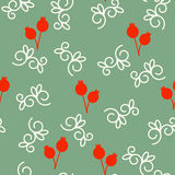 Vector seamless pattern with pomegranates. Floral pattern for cushion, pillow, bandanna, silk kerchief or shawl fabric print. Text Stock Photos