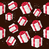 Vector seamless pattern with presents boxes Stock Photos