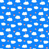Presents from the Sky. Vector Seamless Pattern. EPS 10. Royalty Free Stock Photos
