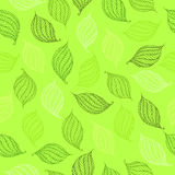 Vector seamless pattern of psychedelic shapes in the form of leaves. Royalty Free Stock Images