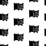 Vector seamless pattern with pug dogs or puppies Royalty Free Stock Photography