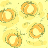 Vector seamless pattern with pumpkin Stock Images