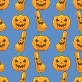 Vector seamless pattern with pumpkins Royalty Free Stock Photos