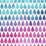 Vector Seamless Pattern with  Rain Drops on watercolor  backgrou Royalty Free Stock Photos