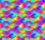Vector Seamless Pattern, Rainbow Colored Scale, Colorful Endless Background. vector illustration