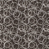 Vector seamless pattern of randomly circles Stock Photos