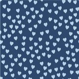 Vector seamless pattern. Randomly disposed hearts. Cute background for print on fabric, paper, scrapbooking Stock Photos