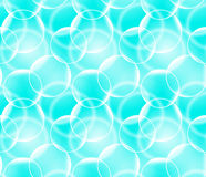 Vector seamless pattern with realistic bubbles. Abstract background. Blue color backdrop. Vector seamless pattern with realistic bubbles. Abstract background Royalty Free Stock Images