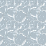 Vector seamless pattern with realistic bubbles. Abstract background. Monochrome backdrop. Vector seamless pattern with realistic bubbles. Abstract background Stock Image