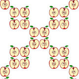 Vector seamless pattern with red apples Royalty Free Stock Images
