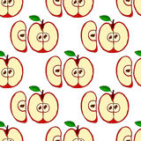 Vector seamless pattern with red apples Royalty Free Stock Photo