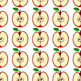 Vector seamless pattern with red apples Royalty Free Stock Photography