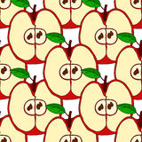 Vector seamless pattern with red apples Royalty Free Stock Photos