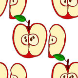Vector seamless pattern with red apples Stock Photo
