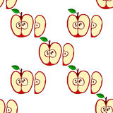 Vector seamless pattern with red apples Royalty Free Stock Image